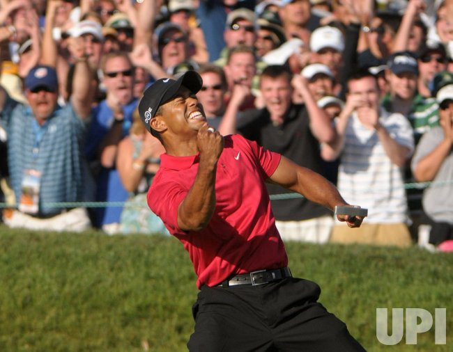 Fourth round of the US Open at Torrey Pines Golf Course in San Diego