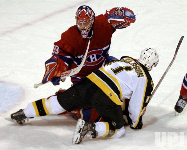 BOSTON BRUINS AT MONTREAL CANADIENS.