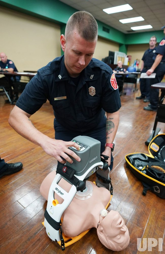 St. Louis Fire Department Trains On New Lucas Chest Compression System