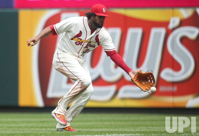 St. Louis Cardinals Jose Martinez can't make catch