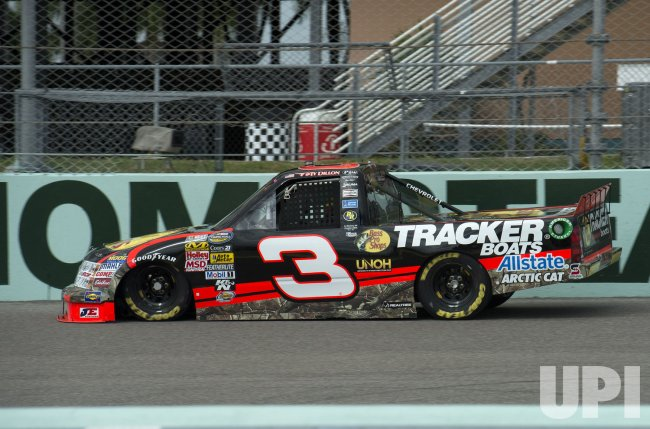 The Homestead-Miami Speedway hosts the NASCAR Ford EcoBoost Championship Series in Homestead, Florida.