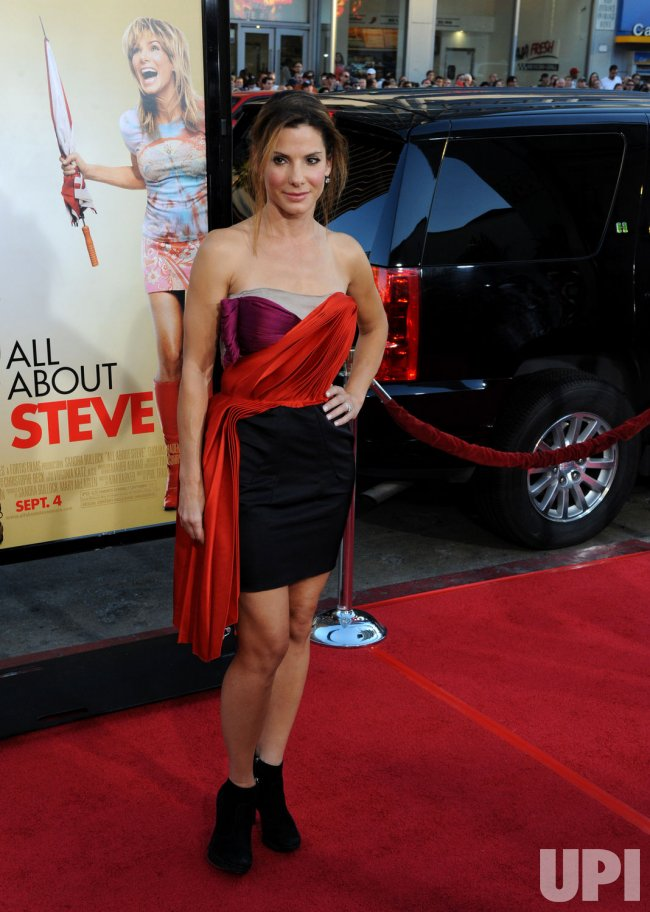 "Sandra Bullock attends the ""All About Steve"" premiere in Los Angeles"