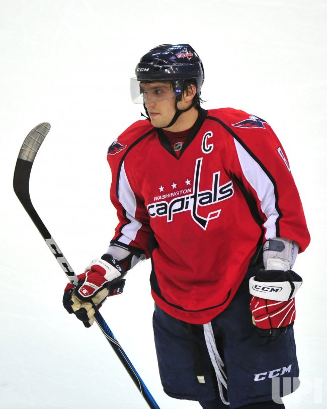 Capitals Alex Ovechkin in Washington