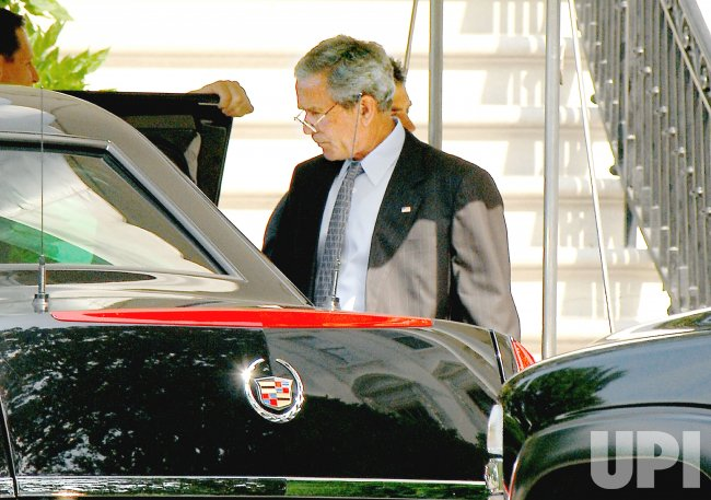 BUSH DEPARTS WHITE HOUSE FOR WALTER REED IN WASHINGTON