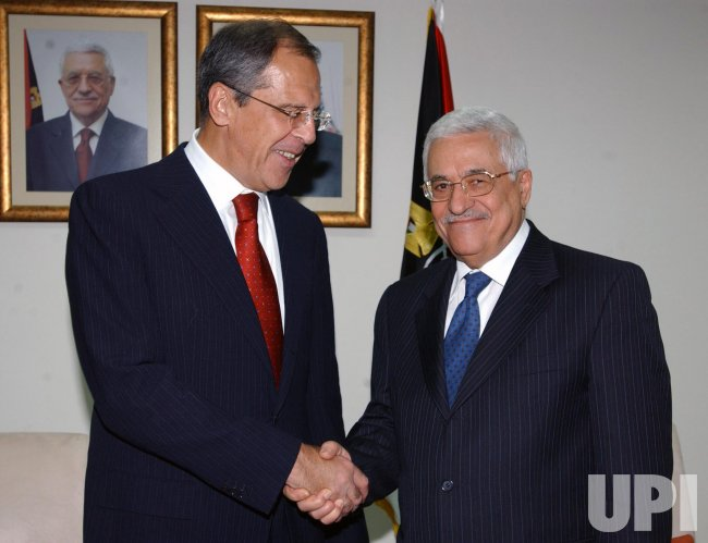 RUSSIAN FM AND ABBAS MEET IN RAMALLAH