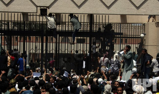 Yemeni Demonstrators Storm U.S. Embassy in Sanaa