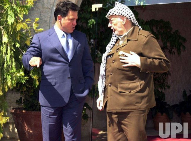 Arafat Meets with King Abdullah of Jordan
