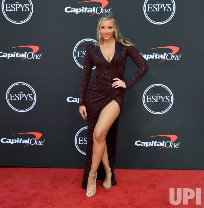 Rob Gronkowski Girlfriend Is Camille Kostek: Camille Kostek Attends The 27th Annual ESPY Awards In Los