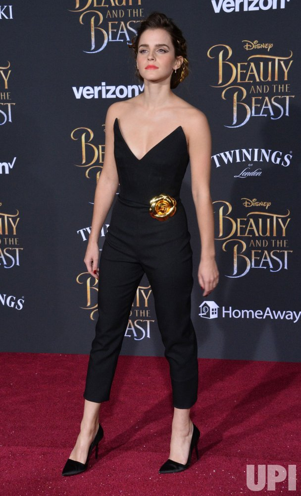 "Emma Watson attends the ""Beauty and the Beast"" premiere in Los Angeles"