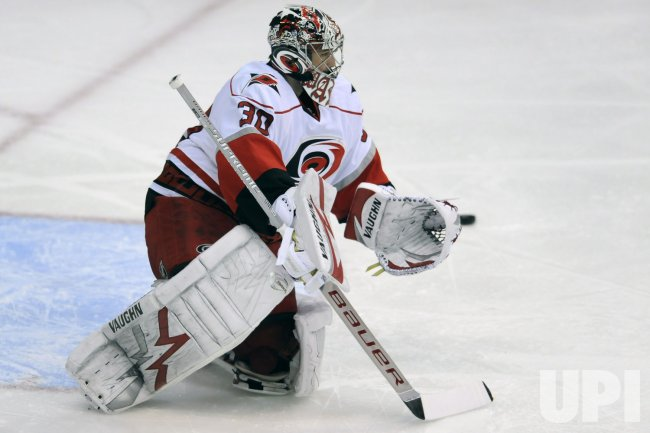 Cam Ward makes a Save in Washington, DC