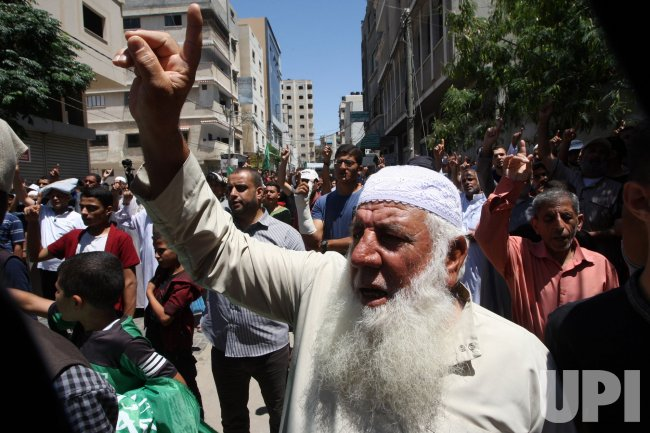 Palestinians Protest in Gaza Against Israel's Plans to Annex Parts of the West Bank ..