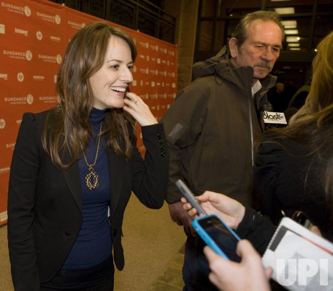 Rosemary DeWitt and Tommy Lee Jones Arrive at the 2010 Sundance Film Festival in Park City, Utah