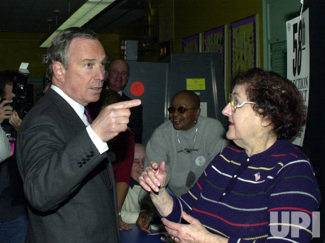 MAYORAL HOPEFUL MIKE BLOOMBERG VOTES IN NEW YORK PRIMARY ELECTION