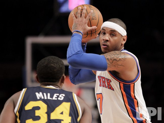 New York Knicks Carmelo Anthony at Madison Square Garden in New York