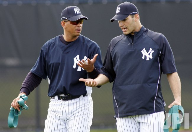 New York Yankees workout during spring training in Florida