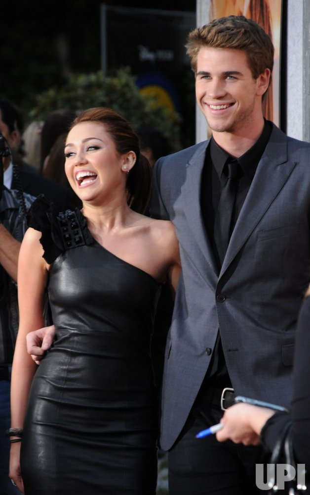 "Miley Cyrus and Liam Hemsworth attend the ""The Last Song"" premiere in Los Angeles"