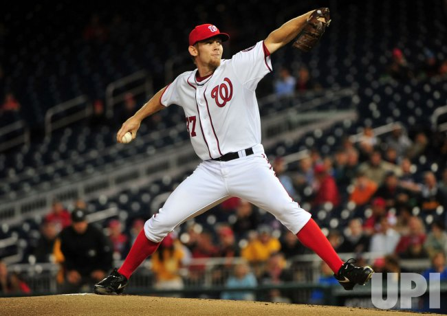 Nationals pitcher Stephen Strasburg in Washington