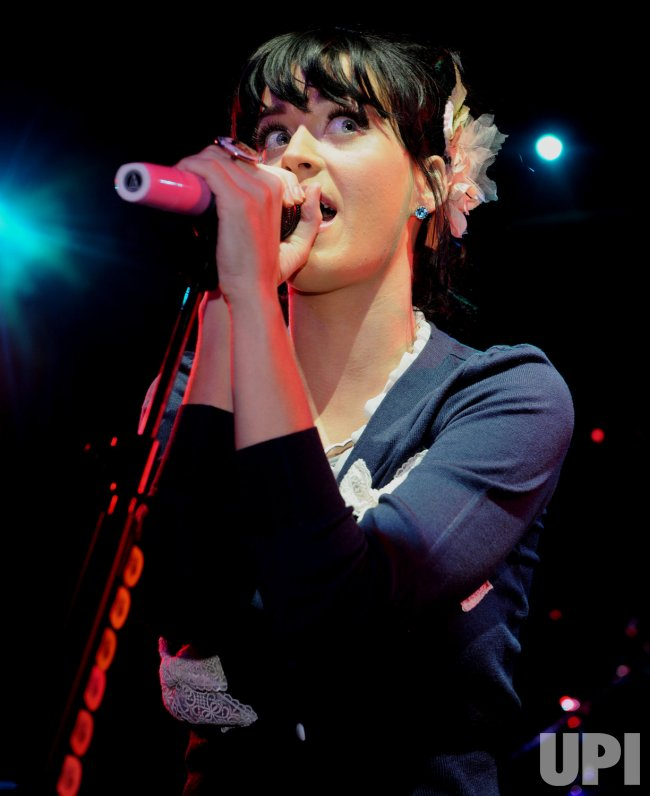 Katy Perry performs in London