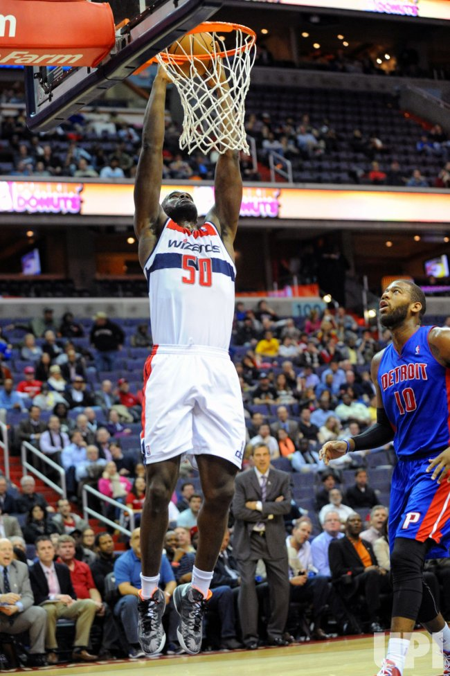 Washington Wizards vs Detroit Pistons in Washington