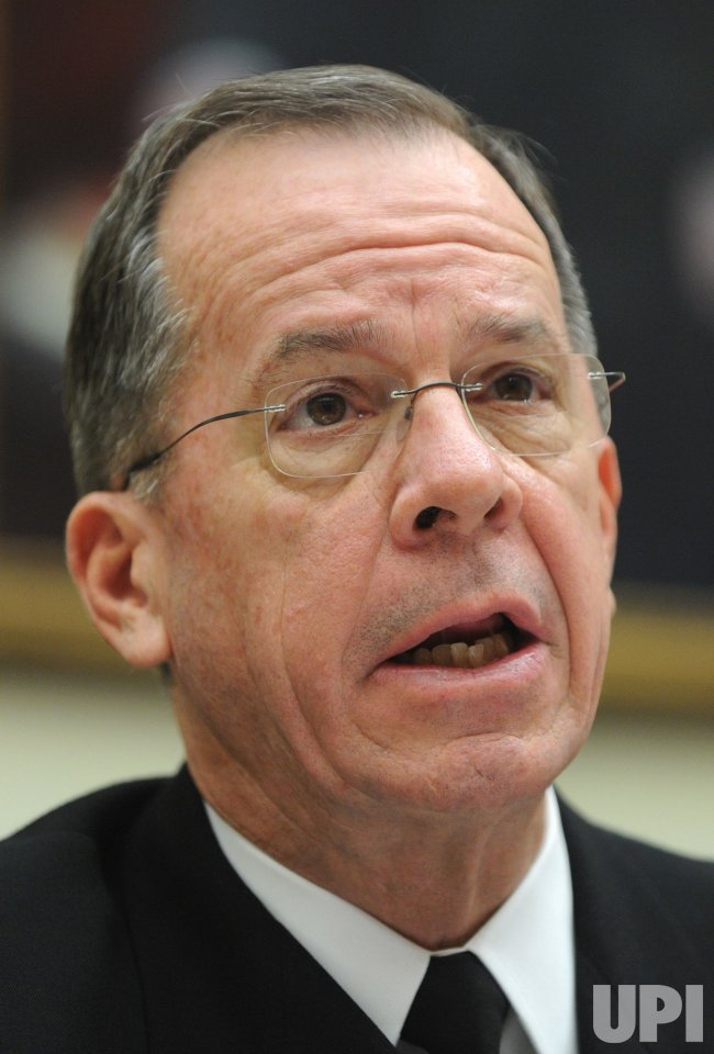Chairman of the Joint Chiefs of Staff Michael Mullen testifies in Washington