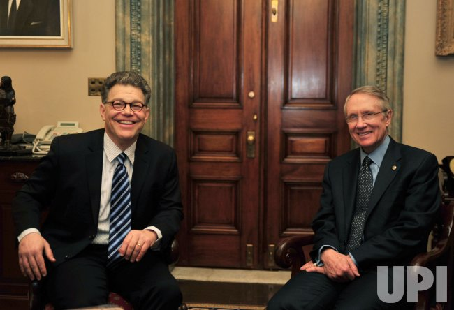 Senate Majority Leader Reid meets with Al Franken in Washington