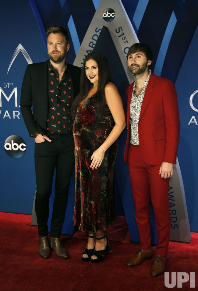 Lady Antebellum arrives for the 2017 CMA Awards in Nashville