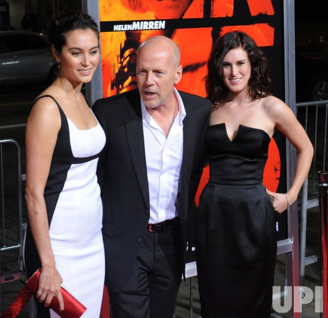 "Bruce Willis attends the ""Red"" premiere with wife and daughter in Los Angeles"