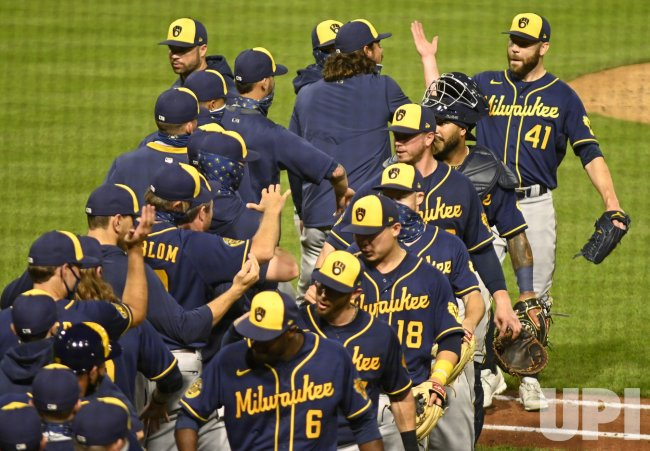 Milwaukee Brewers Celebrate 6-5 Win Apparently Against MLB 2020 Rules