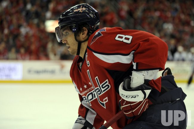 Alex Ovechkin skates in Washington, DC