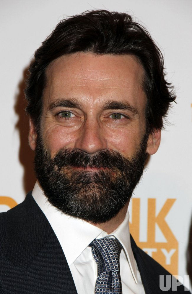 Jon Hamm arrives for the Can-Do Awards in New York
