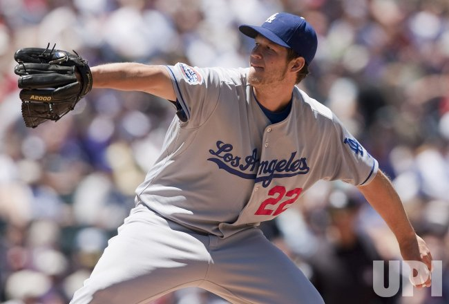 Dodgers Kershaw Earns the Win over the Rockies in Denver