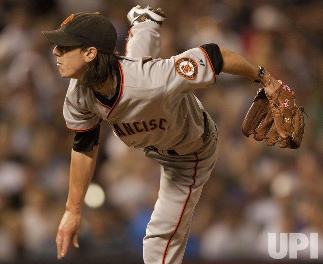 Giants Pitcher Lincecum Beats the Rockies in Denver