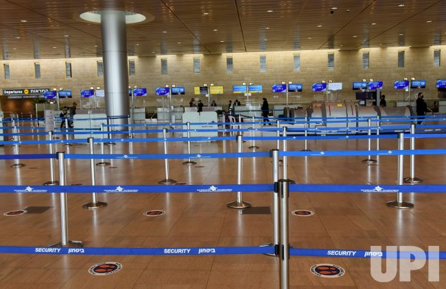 A View Of An Empty Departure Hall In Ben Gurion Airport