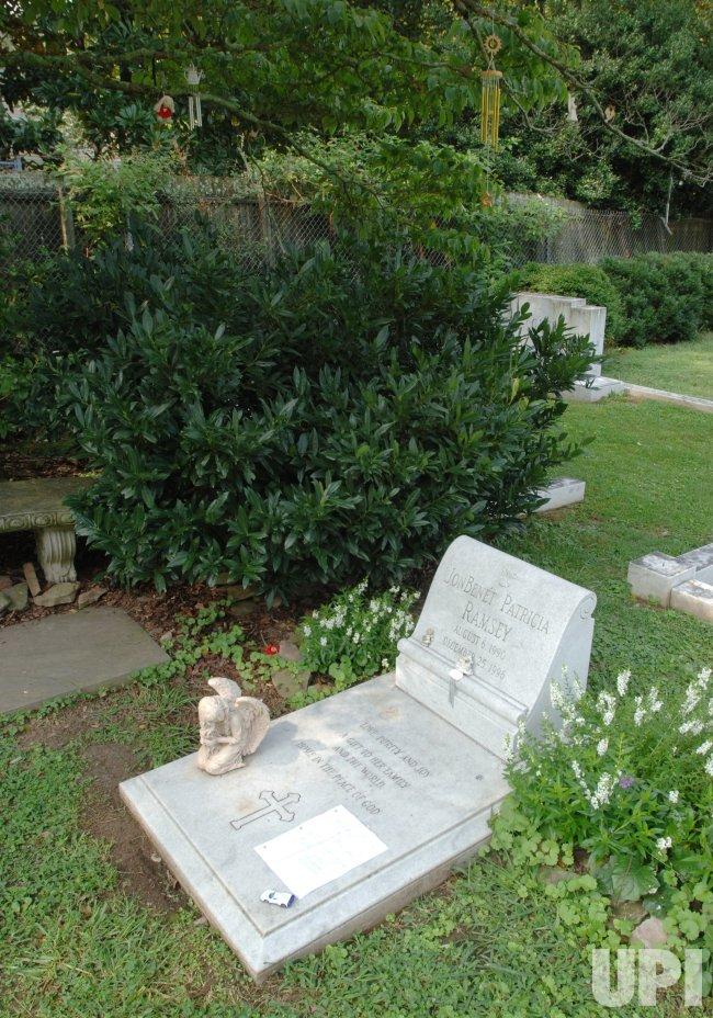 JONBENET RAMSEY GRAVESITE AFTER her MURDER SUSPECT ARRESTED.