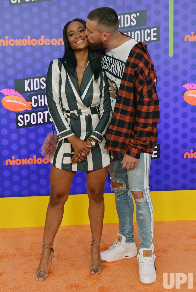 Travis Kelce And Kayla Nicole Attend Kids Choice Sports