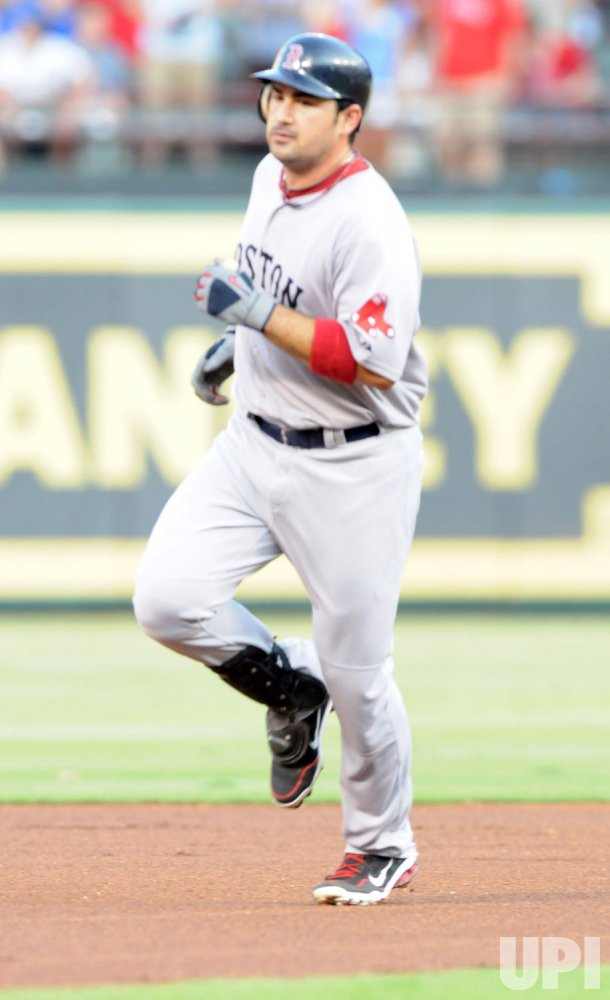 Boston's Gonzalez solos against the Rangers