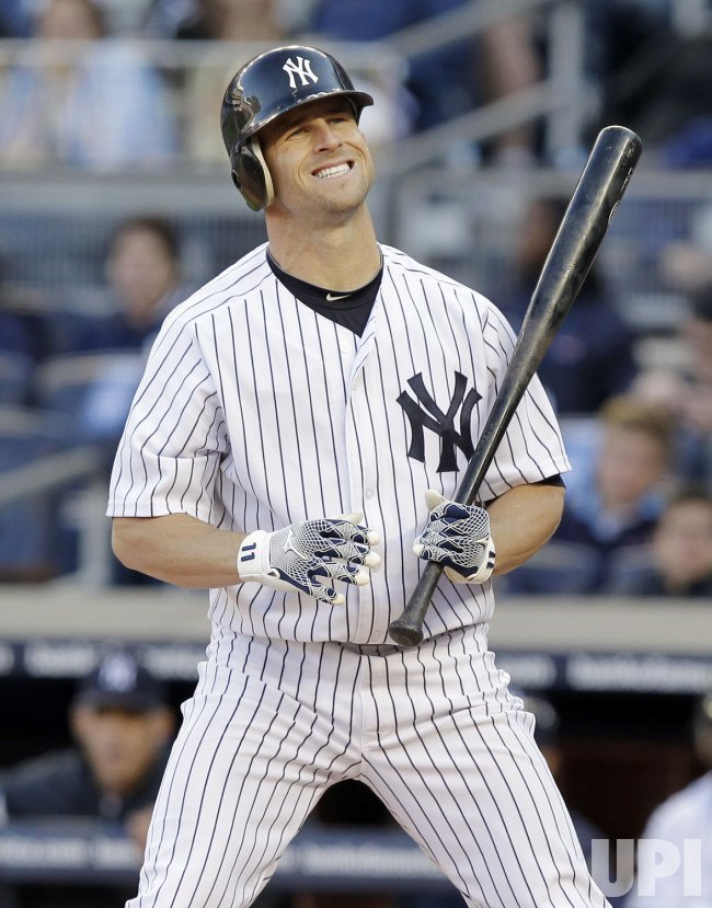 New York Yankees Brett Gardner at Yankee Stadium in New York