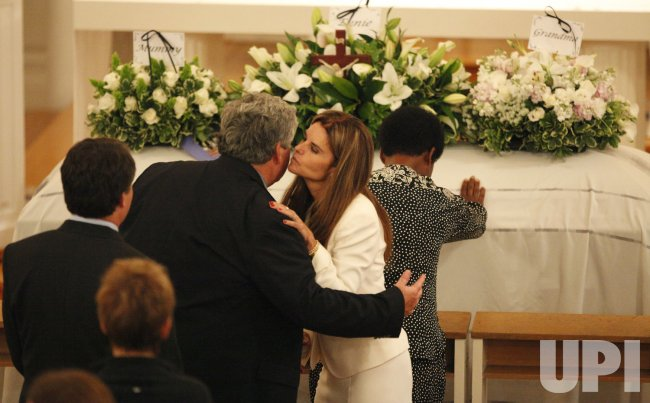 Maria Shriver at the wake of her mother Eunice Kennedy Shriver.
