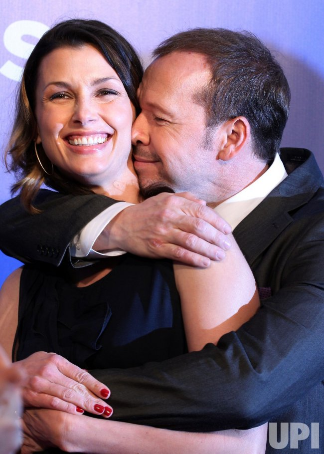 Actors Bridget Moynahan and Donnie Wahlberg arrive at the 2010 CBS Up Front at Lincoln Center in New York