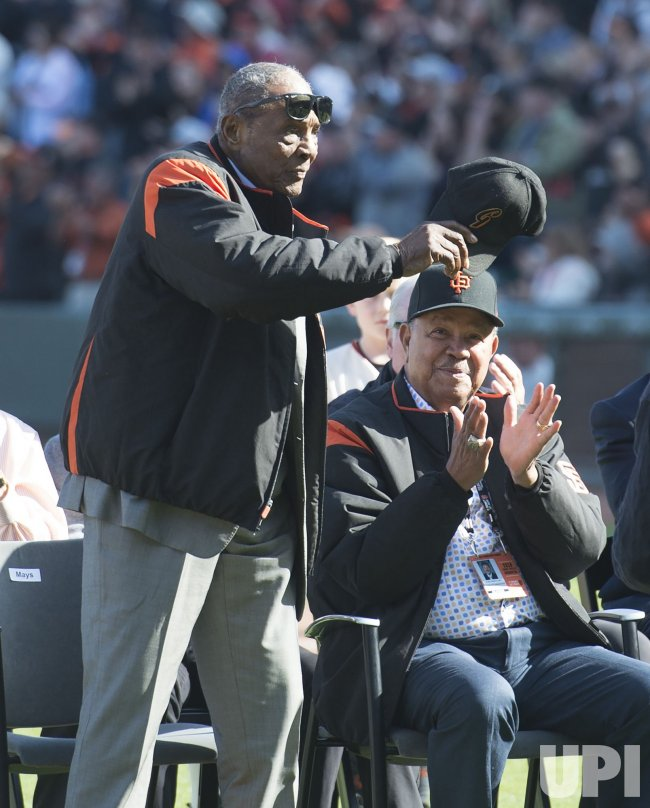 Willie Mays attends tribute to Bruce Bochy