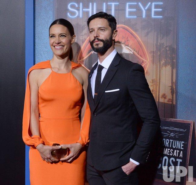 "KaDee Strickland and Jason Behr attend Hulu's ""Shut Eye'"" premiere in Los Angeles"