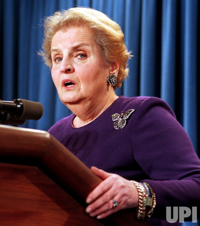 U.S. Secretary of State Madeleine Albright