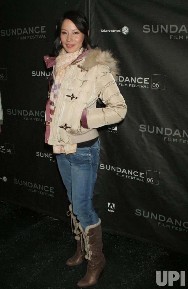 LUCY LIU ARRIVES FOR SUNDANCE PREMIERE