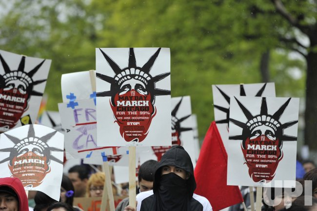 Protesters March on May Day in Chicago