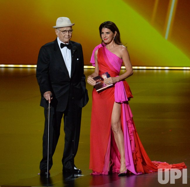 Norman Lear and Marisa...