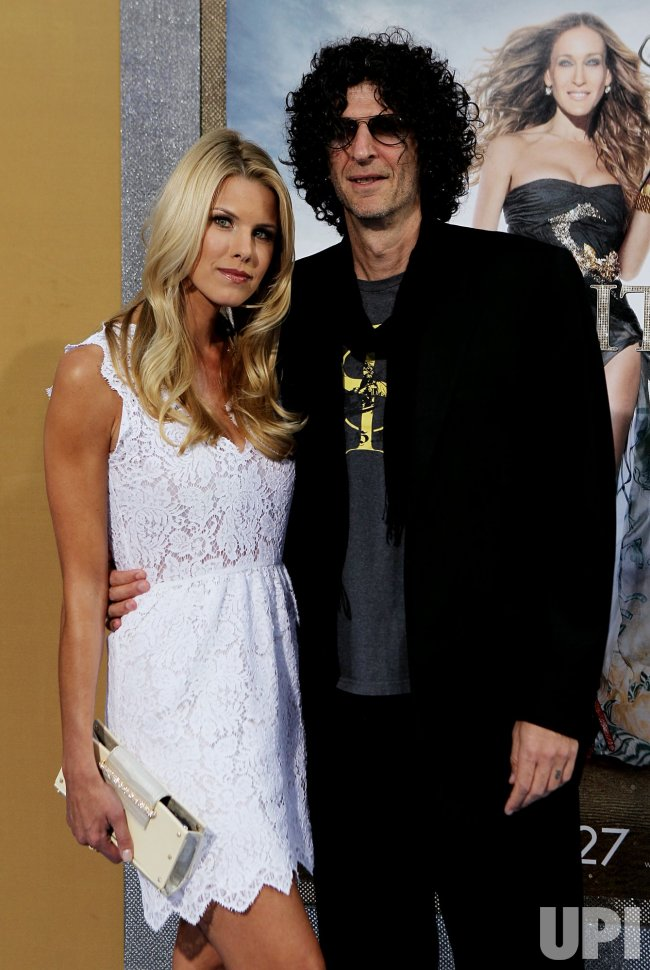 "Howard Stern and Beth Ostrosky Stern arrive at the ""Sex And The City 2"" premiere at Radio City Music Hall in New York"