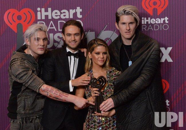 Michael Trewartha, Zedd, Maren Morris and Kyle Trewartha win award at iHeartRadio Music Awards in Los Angeles