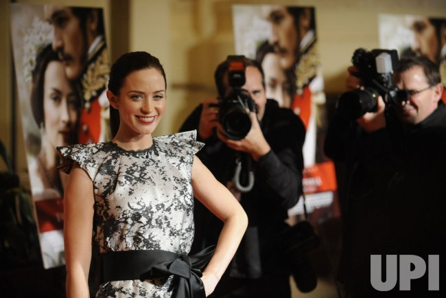"Cast member Emily Blunt attends the premiere of the film ""The Young Victoria"" in Los Angeles"