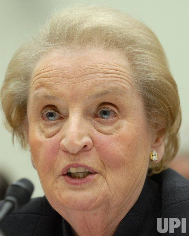 FORMER SECRETARY OF STATE ALBRIGHT TESTIFIES ABOUT IRAQ