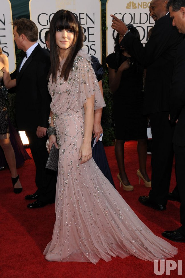 Sandra Bullock arrives at the 68th annual Golden Globe Awards in Beverly Hills, California